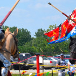 Jousting Knights at the Saline Celtic Festival