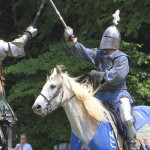 Jousting competition at the Saline Celtic Festival